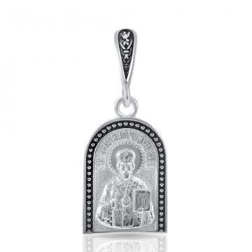 Иконка Святой Николай Угодник из серебра