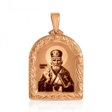 Подвеска-икона Николая Чудотворца из золота