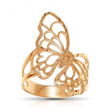 Кольцо Бабочка из серебра