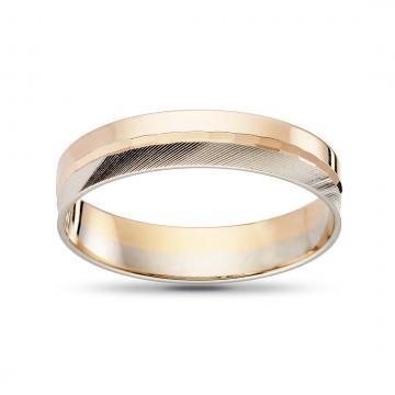 Кольцо обручальное, синтеринг, из золота, 5мм
