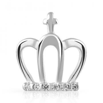 Подвеска-шарм Корона SOKOLOV  из серебра с фианитами