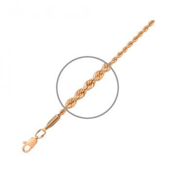 Цепочка, плетение Веревка, из золота