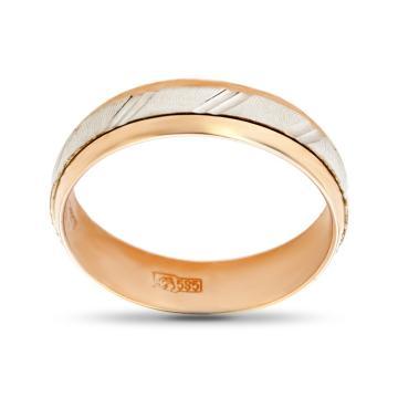 Кольцо обручальное с вращающейся вставкой из золота, 4.5 мм