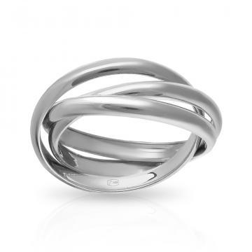 Кольцо Тринити из серебра