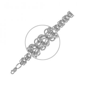 Цепочка, плетение Розочка, из серебра