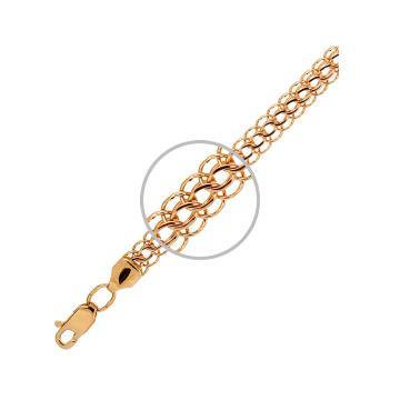 Браслет, плетение Питон, из золота