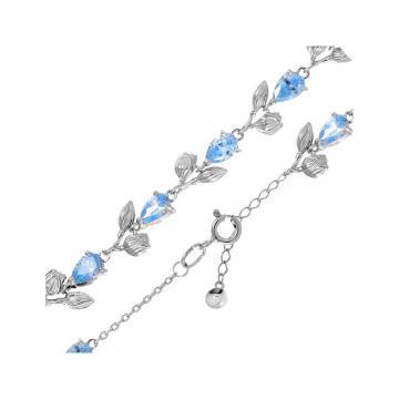 Браслет SOKOLOV Цветок из серебра с фианитами