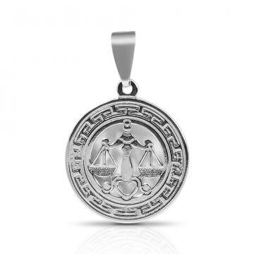 Подвеска из серебра, знак зодиака Весы