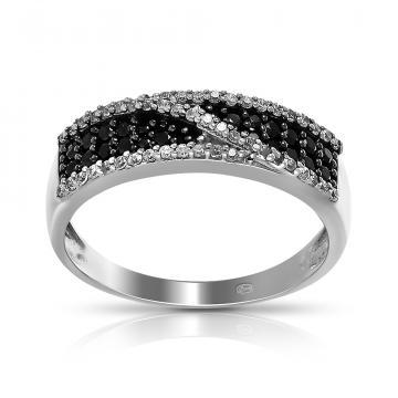 Кольцо из серебра со шпинелью и фианитами