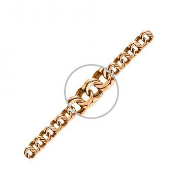 Браслет, плетение Бисмарк, из золота