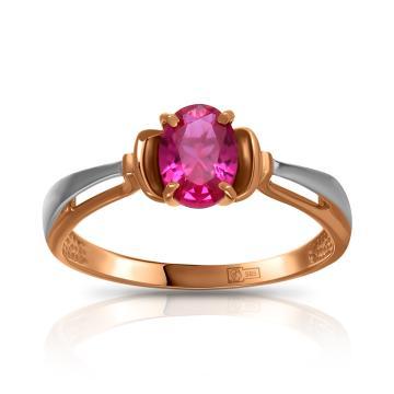 Кольцо из золота с рубином