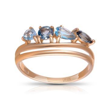 Кольцо SOKOLOV из золота с топазами