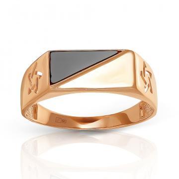 Кольцо-печатка TALANT из золота с фианитом