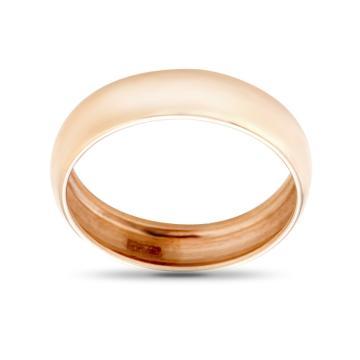 Кольцо обручальное из золота гладкое, бухтированное, 5 мм