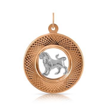 Подвеска из золота, знак зодиака Лев