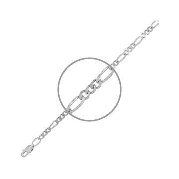 Цепочка, плетение Фигаро, из серебра