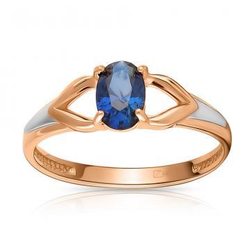 Кольцо из золота с сапфиром
