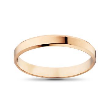 Кольцо обручальное из золота гладкое, плоское