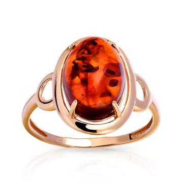 Кольцо из серебра с янтарем