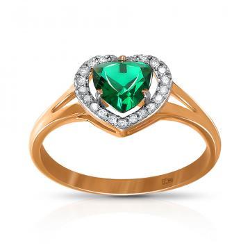 Кольцо из золота с изумрудами и бриллиантами