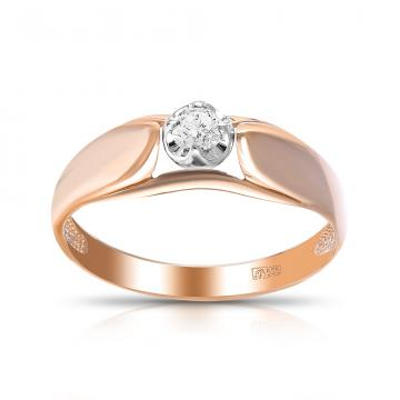 Кольцо из золота с бриллиантом