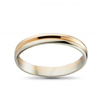 Кольцо обручальное из золота, синтеринг, 3 мм