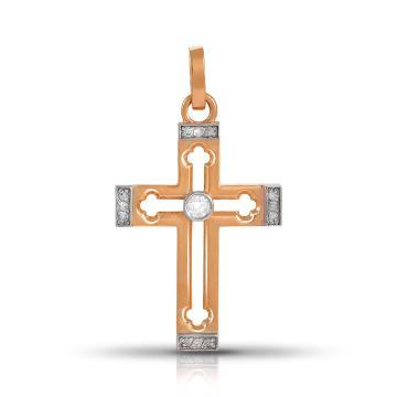 Подвеска- крестик TALANT из золота с бриллиантами