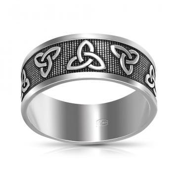 Кольцо Трикверт из серебра