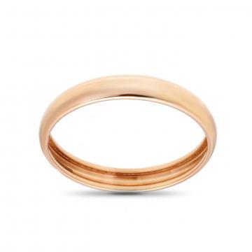 Кольцо обручальное гладкое, бухтированное, 3 мм