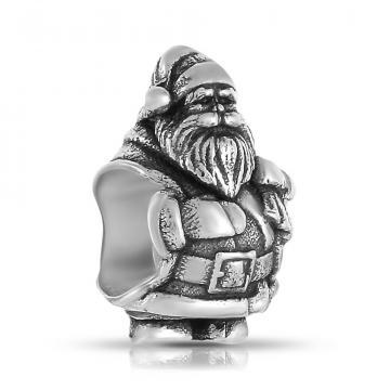 Подвеска-шарм Дед Мороз из серебра