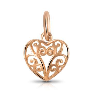 Подвеска Сердце из золота