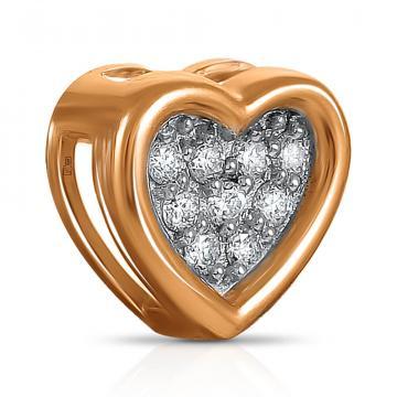 Подвеска TALANT Сердце из золота с бриллиантами