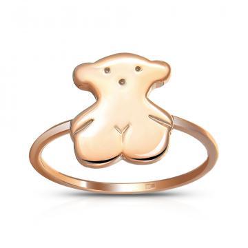 Кольцо детское Мишка из золота